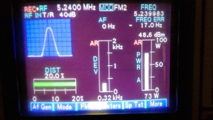 74 Watts transmit output in the 60 Meter band.